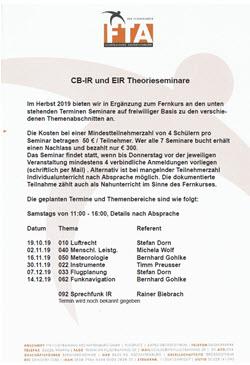 CB-IR- und EIR-Theorieseminare