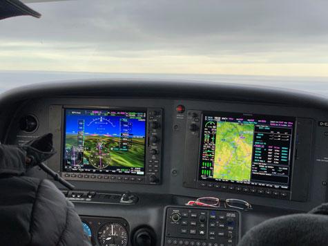 Cirrus Perspective in flight