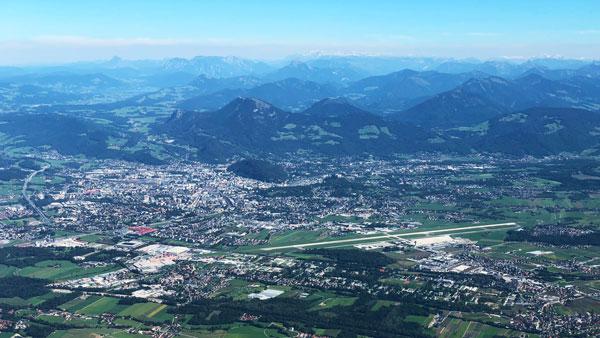 Fliegen Lernen Schulflug nach Salzburg
