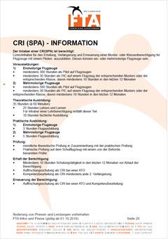 Ausbildung Fluglehrer Class Rating Instructor CRI(A) Rhein Main Gebiet Unterfranken