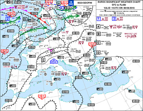 IFR-Ausbildung Significant Weather Chart