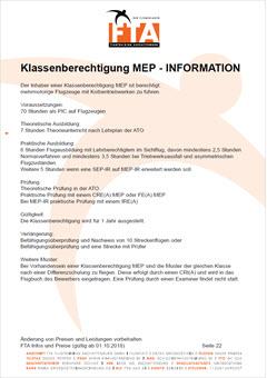 Ausbildung Klassenberechtigung MEP Rhein Main Gebiet Unterfranken