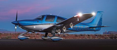 Nachtflug-Ausbildung auf Cirrus SR20