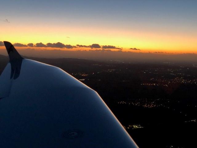 Nachtflugausbildung Überlandflug