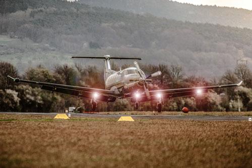 Pilatus PC12 Takeoff