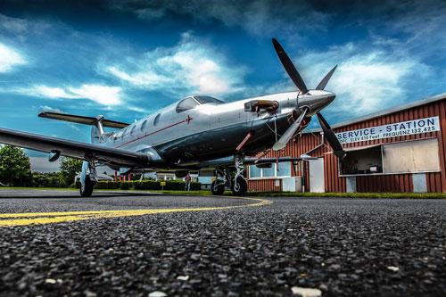 Pilatus PC12 Vorfeld