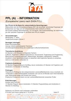Ausbildung Privatpilotenlizenz PPL(A) Pilotenschein Rhein Main Gebiet Unterfranken